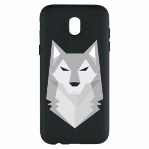 Phone case for Samsung J5 2017 Wolf graphics minimalism - PrintSalon