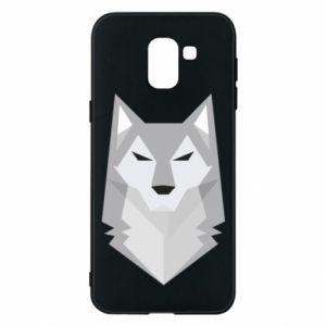 Phone case for Samsung J6 Wolf graphics minimalism - PrintSalon