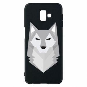 Phone case for Samsung J6 Plus 2018 Wolf graphics minimalism - PrintSalon