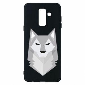 Phone case for Samsung A6+ 2018 Wolf graphics minimalism - PrintSalon