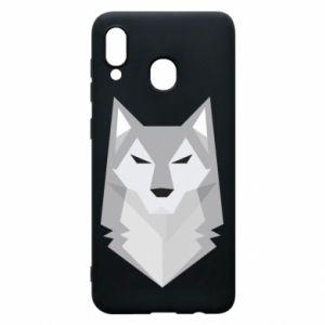 Phone case for Samsung A20 Wolf graphics minimalism - PrintSalon
