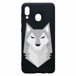 Phone case for Samsung A30 Wolf graphics minimalism - PrintSalon