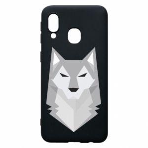 Phone case for Samsung A40 Wolf graphics minimalism - PrintSalon