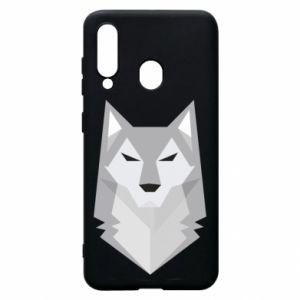 Phone case for Samsung A60 Wolf graphics minimalism - PrintSalon