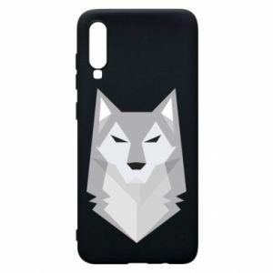 Phone case for Samsung A70 Wolf graphics minimalism - PrintSalon