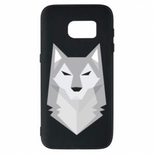 Phone case for Samsung S7 Wolf graphics minimalism - PrintSalon