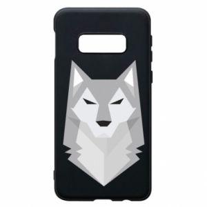Phone case for Samsung S10e Wolf graphics minimalism - PrintSalon
