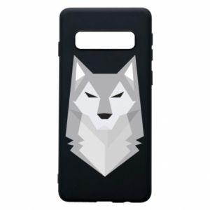 Phone case for Samsung S10 Wolf graphics minimalism - PrintSalon