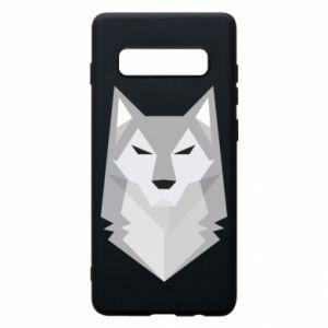 Phone case for Samsung S10+ Wolf graphics minimalism - PrintSalon