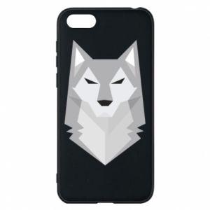 Phone case for Huawei Y5 2018 Wolf graphics minimalism - PrintSalon