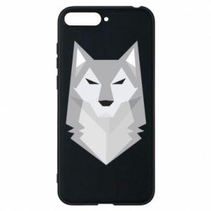 Phone case for Huawei Y6 2018 Wolf graphics minimalism - PrintSalon