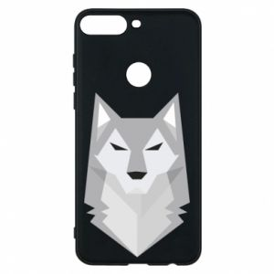 Phone case for Huawei Y7 Prime 2018 Wolf graphics minimalism - PrintSalon