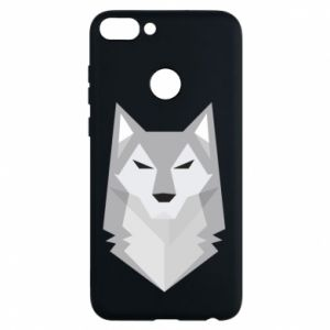 Phone case for Huawei P Smart Wolf graphics minimalism - PrintSalon