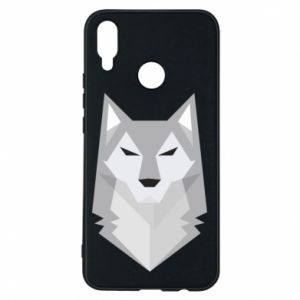 Etui na Huawei P Smart Plus Wolf graphics minimalism