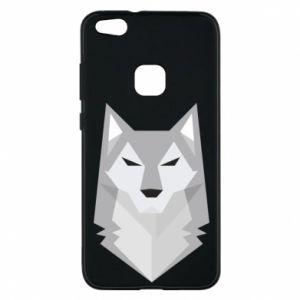 Phone case for Huawei P10 Lite Wolf graphics minimalism - PrintSalon