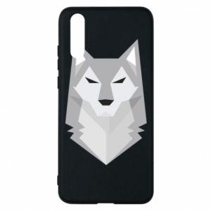 Phone case for Huawei P20 Wolf graphics minimalism - PrintSalon