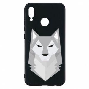 Phone case for Huawei P20 Lite Wolf graphics minimalism - PrintSalon