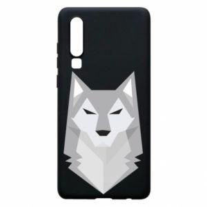 Phone case for Huawei P30 Wolf graphics minimalism - PrintSalon