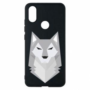 Phone case for Xiaomi Mi A2 Wolf graphics minimalism - PrintSalon