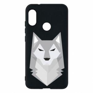 Phone case for Mi A2 Lite Wolf graphics minimalism - PrintSalon