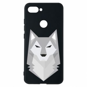 Phone case for Xiaomi Mi8 Lite Wolf graphics minimalism - PrintSalon