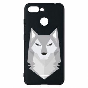 Phone case for Xiaomi Redmi 6 Wolf graphics minimalism - PrintSalon