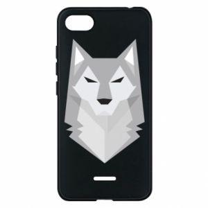 Phone case for Xiaomi Redmi 6A Wolf graphics minimalism - PrintSalon