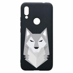 Phone case for Xiaomi Redmi 7 Wolf graphics minimalism - PrintSalon