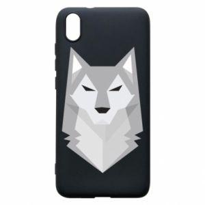 Phone case for Xiaomi Redmi 7A Wolf graphics minimalism - PrintSalon