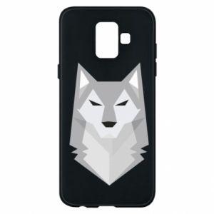 Phone case for Samsung A6 2018 Wolf graphics minimalism - PrintSalon