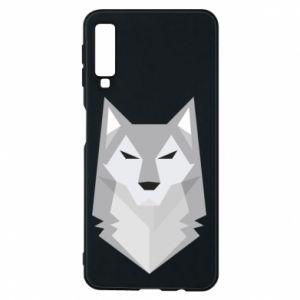 Phone case for Samsung A7 2018 Wolf graphics minimalism - PrintSalon