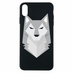 Etui na iPhone Xs Max Wolf graphics minimalism