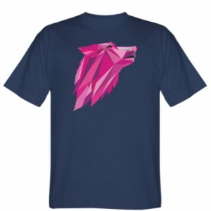 T-shirt Wolf graphics pink