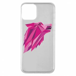 Etui na iPhone 11 Wolf graphics pink