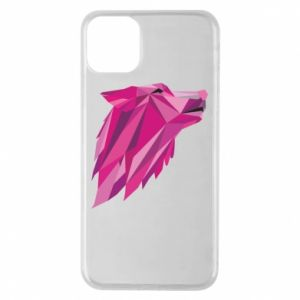 Etui na iPhone 11 Pro Max Wolf graphics pink