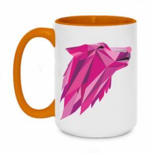 Kubek dwukolorowy 450ml Wolf graphics pink