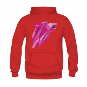 Bluza z kapturem dziecięca Wolf graphics pink