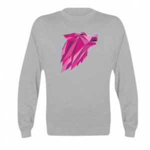 Bluza dziecięca Wolf graphics pink