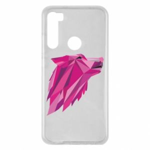 Etui na Xiaomi Redmi Note 8 Wolf graphics pink