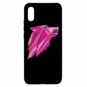 Etui na Xiaomi Redmi 9a Wolf graphics pink