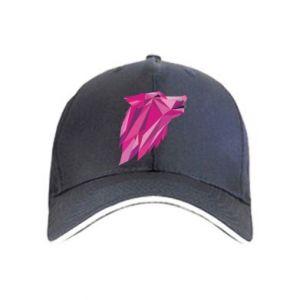 Czapka Wolf graphics pink