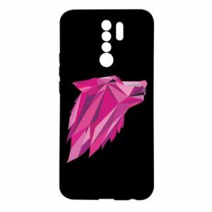 Etui na Xiaomi Redmi 9 Wolf graphics pink