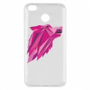 Etui na Xiaomi Redmi 4X Wolf graphics pink