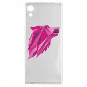Etui na Sony Xperia XA1 Wolf graphics pink