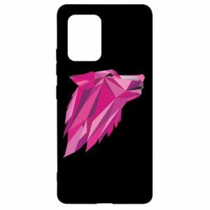 Etui na Samsung S10 Lite Wolf graphics pink