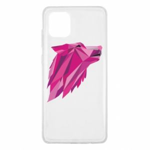 Etui na Samsung Note 10 Lite Wolf graphics pink