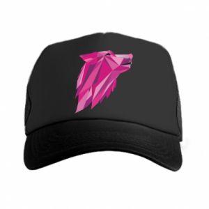Czapka trucker Wolf graphics pink