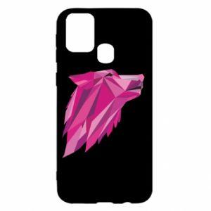 Etui na Samsung M31 Wolf graphics pink