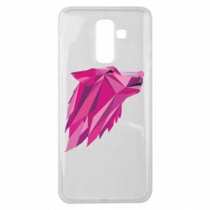 Etui na Samsung J8 2018 Wolf graphics pink