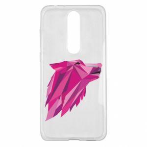 Etui na Nokia 5.1 Plus Wolf graphics pink